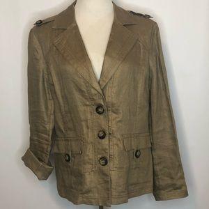 Chico's Metallic Jacket (2)